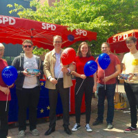 Infostand für die Europawahl